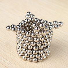 216Pcs 5mm Sliver DIY Neocube Magic Beads Magnetic Balls Puzzle Sale - Banggood.com