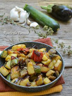 verdure spadellate all'origano