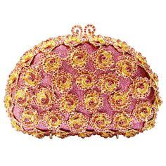 Evening Clutch Bags Rose Flower Shape Luxury Diamante Clutch Evening Bags Studded Crystal Wedding_13     https://www.lacekingdom.com/