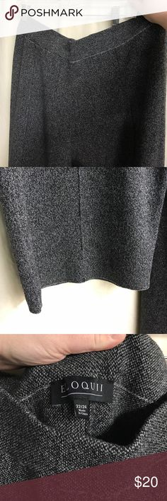NWOT tweed wide leg knit pant gray black Like new condition from a smoke free home. Size 22/24. Nice heavy weight material. 30 inch inseam. Double knit. Elastic waistband Eloquii Pants Wide Leg