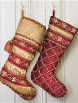 Celebrate the Christmas season with our festive Noel Stocking, featuring burgundy and gold hues for a perfect holiday decoration. Available on Balsam Hill. Elegant Christmas, Victorian Christmas, Christmas Colors, Red Christmas, Christmas Decorations, Christmas Ideas, Christmas Crafts, Holiday Ideas, Christmas Time