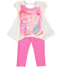 DKNY Girl Love Tunic and Legging Set