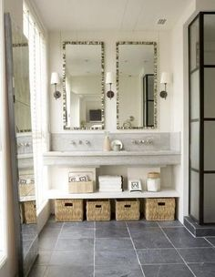 I don't think we are going to tear out the master bath vanities anymore, but I love this!