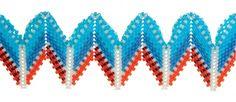 Wedge Rick-Rack in Process, Kate McKinnon, Contemporary Geometric Beadwork 2012, photo Kyle Cassidy