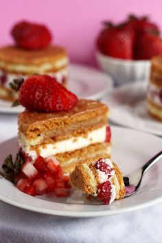 Our Strawberry Blonde Cake 2  by Kaitlin F, via Flickr