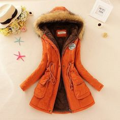 Winter Coat Women jacket 2016 Parka Casual Outwear Military Hooded Thickening Cotton Coat Winter Jacket Fur Coats Women Clothes
