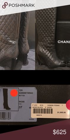 Authentic Chanel Black Bottes Boots Brand new black Chanel knee high boots, with dust bags and box. Authentic. CHANEL Shoes Over the Knee Boots