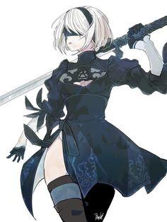 #art #artwork #anime #animegirl #aesthetic #animeart Cool Anime Girl, Anime Art Girl, Manga Art, Anime Oc, Dark Anime, Kawaii Anime, Drakengard Nier, Neir Automata, Nier Automata A2