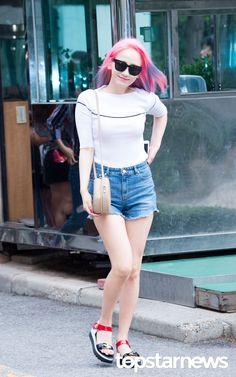 [HD포토] 원더걸스(Wonder Girls) 예은 긴머리 흩날리며 (뮤직뱅크 출근길) #topstarnews