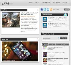 RPG.cod Wordpress Theme