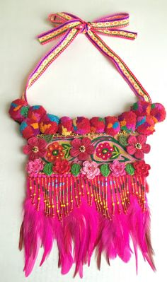 Irinel Popescu - Colourful flowers beaded ethnic inspired by Diomios