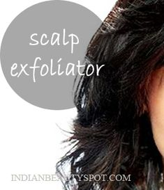   Natural Scalp Scrub: Exfoliating Scalp   Treatment to get rid of product build up, dandruff, dry or itchy scalp - #beautyDIY. Mix coconut oil and lemon juice, section off you hair,with a brush or cotton ball apply the mixture to your scalp. Gently massage you scalp with you fingertips in circular motions. Leave it on for 15-20 minutes and finish off with your regular shampoo and conditioner.