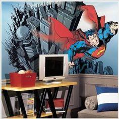 superman mural for bedroom