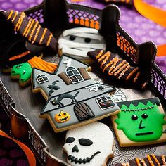 Haunted House Halloween Cookies
