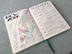 First guest blog post on amazinglymarvelous by TheCopperBujo about her New York Planning in her bullet journal with amazing pictures.