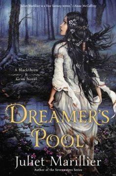 Dreamer's pool : a Blackthorn & Grim novel by Juliet Marillier.  Click the cover image to check out or request the science fiction and fantasy kindle.