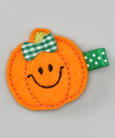 Take a look at this Orange Pumpkin Felt Clip by Bitty Bop Bows on #zulily today!