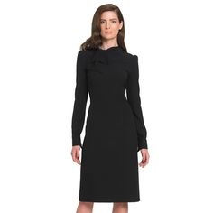 I call this the Loretta-Lynn look and I don't know why, but I'm a sucker for it and for black.  I probably own five all-black work dresses that need to be rotated out already for some new ones.