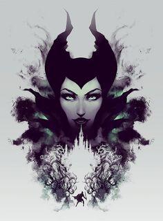 Maleficent Disney Sleeping Beauty Rorschach style by jefflangevin, $30.00 #maleficent #disney #sleepingbeauty