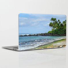 Laniakea (Turtle)  Beach - North Shore, Oahu, Hawaii Laptop & iPad Skin by TylerFore - $30.00