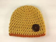 Handmade by me crochet preemie baby boy fall hat , Great for NICU, great hats for photo shoot  READY TO SHIP  Hat measures 4 inches to bottom, Circumference of head is 10 inches ,sizes vary per baby 4-5 pounds .  My buttons are securely fastened with neede and thread.  To get the correct sizing it would be best to measure the circumstance of the head , sometimes when stated Preemie, Newborn, 0-3 months etc. that is what is stated in the pattern. I always make my hats by using the standard…