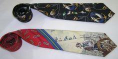 Mens Polo Ralph Lauren Lot Of 2 Vintage Sailor Anchor Silk Business Neck Ties