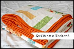 Love this gorgeous Quilt in a Weekend made by the ever crafty @ColoradoMoms.com