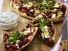 Schnelle Fladenbrotpizza mit Feta