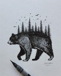 BLACK BEAR  #bear #art #illustration #blackbear