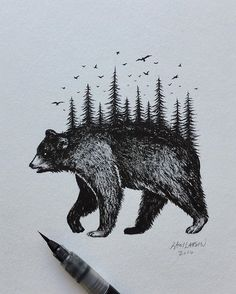 BLACK BEAR  #bear #art #illustration #blackbear