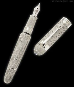 Aurora's Limited Edition Diamond Fountain Pen; 1.3 million dollars!!..huh huh huh huh