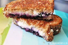 Smashed Blackberry & Basil Grilled Cheese   Nosh and Nourish