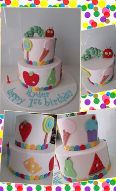 The Very Hungry Caterpillar Birthday Cake by Cakes Mary Makes, Caroline Springs, Victoria, Australia. You'll find this Cake Appreciation Society Member in our Directory at www.cakeappreciationsociety.com