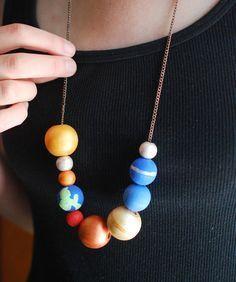 Make a Stellar Solar System Necklace // wild olive for handmade charlotte