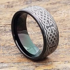 Purchase Religious cross rings from a brand you can trust. Forever Metals makes quality tungsten carbide rings at affordable prices. Black Tungsten Rings, Tungsten Carbide Rings, Celtic Wedding Rings, Tungsten Wedding Bands, Black Rings, Cross Rings, Fashion Rings, Rings For Men, Metals