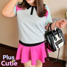 "#spreepicky #pluscutie #plussize #two-piece #short-sleeve #top&skirt #freeship  Free Shipping Worldwide  Material: Polyester  Color: Grey  Size: L/XL/XXL/XXXL  L: Top Length:64.5cm/25.34""  Bust:104cm/40.87""  Top Bottom Width:82cm/32.23""  Skirt Length:35cm/13.76""  Skirt Waist:74cm/29.08""   XL: Top Length:65.5cm/25.74""  Bust:114cm/44.80""  Top Bottom Width:90cm/35.37""..."
