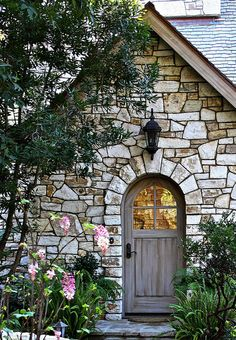 Love the stone ......  and door