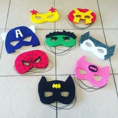 Avengers/ superhero DIY felt masks