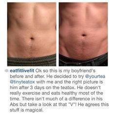 eatfitlivefit got her boyfriend onto our TINYTEA and ended up with an extremely pleasing result! Has anyone had their bf try heir TINYTEA? Xx  #teatox #tinytea #yourtea #happy #customer #tinyteatox #detox #complexion #digestive #system #cleansed #organic #healthy #tea #herbal #weightloss