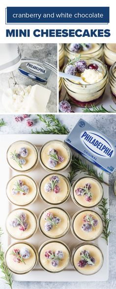 Cranberry and White Chocolate Mini Cheesecakes – Cheesecakes are one dessert recipe you can't go wrong with during the holidays—and this festive recipe featuring PHILADELPHIA Cream Cheese is no exception! Check out these individual-sized treats to see how you can make entertaining guests this season easy and delicious. Plus, this homemade treat may even become an annual tradition for you and your kids to make!