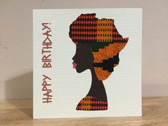 African woman card, Map of Africa hairstyle, African print greeting cards…