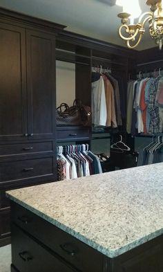 Closet Creations built this custom master closet with island !