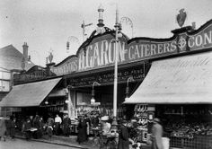 Garons fishmongers, greengrocers, High Street, Southend Essex England, Leigh On Sea, London Places, Bournemouth, Glass House, British History, Photography Photos, Family History, Old Photos