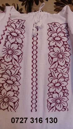 Embroidery Dress, Hand Embroidery, Bargello, Cross Stitch Patterns, Quilts, Petra, Crochet, Roses, Cross Stitch