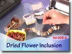 Polymer Clay Dried Flower Inclusion Technique