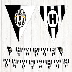 Juventus Printable Birthday Banner Football Party  .  .  #juventus #football #birthday #banner #party #deco Football Themes, Football Cakes, Happy Birthday Football, Party Corner, Printable Birthday Banner, Husband Birthday, 10th Birthday, Soccer Party, Online Print Shop