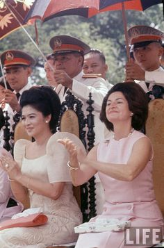 """First Lady Imelda Marcos First Lady Claudia Alta """"Lady Bird"""" Taylor Johnson --Truly beautiful, Ms. Ferdinand, Philippines Culture, Manila Philippines, Philippines People, Modern Filipiniana Dress, First Lady Of America, President Of The Philippines, Filipino Fashion, American First Ladies"""