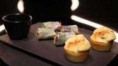 Muffins aux olives et au chèvre sans gluten, rouleau de printemps minute, par Frédérique Jules. - Recettes - Dans la peau d'un chef - France 2
