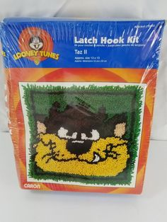 1f33258b Caron Taz 2 Latch Hook Vintage 1997 Looney Toones Craft Kit #Caron Latch  Hook Vintage