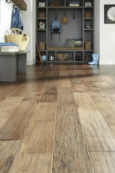 Rustic Hardwood Flooring Tips and Suggestion - Enjoy Your Time Scraped Wood Floors, Hickory Flooring, Engineered Hardwood Flooring, Vinyl Plank Flooring, Timber Flooring, Flooring Ideas, Hand Scraped Hardwood, Prefinished Hardwood, Unique Flooring